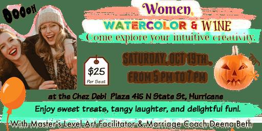 Women, Watercolor, & Wine