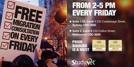 Free one-on-one Migration Consultation in Sydney and Melbourne! tickets