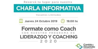 Charla Informativa: Programa en Liderazgo y Coaching 24 de Octubre 19 hs