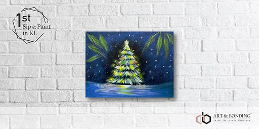 Sip & Paint Night : Winter Christmas Tree
