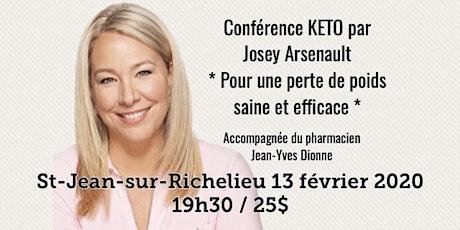 ST-JEAN-SUR-RICHELIEU / Conférence KETO - Pour une perte de poids saine et efficace!  billets