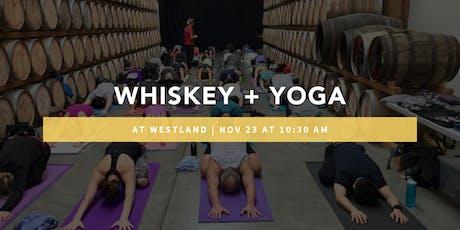 Whiskey + Yoga @ Westland Distillery tickets