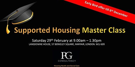 Supported Housing Master Class - London tickets