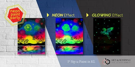 Sip & Paint Night : NEON Paint Party - Glowing Galaxy Reflection tickets