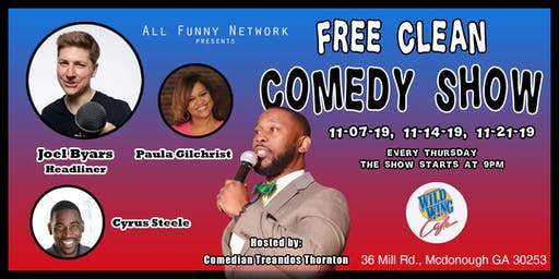 Clean Comedy show(Wild Wing Cafe)
