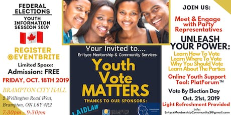 Youth Vote Matters:  Youth Information Session 2019 Federal Elections tickets