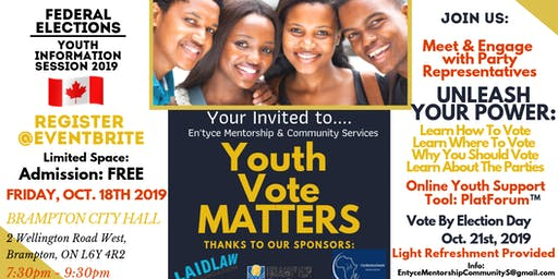 Youth Vote Matters:  Youth Information Session 2019 Federal Elections