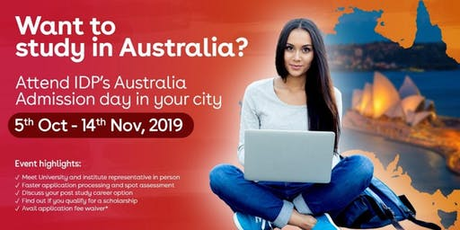 Attend IDP's Australia Admission Day in  Gurgaon - Free Registration!