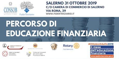 Percoso di educazione finanziaria - Consob -FederTerziario biglietti
