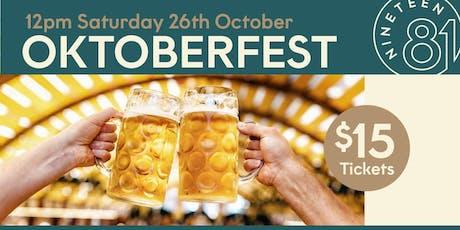 Oktoberfest in Nineteen81 Barooga tickets