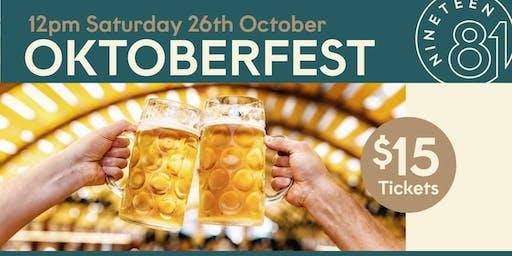 Oktoberfest in Nineteen81 Barooga