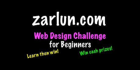 Web Design Course and Challenge - CASH Prizes EB tickets