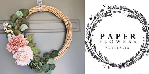 #imadeitmyself  -  Xmas Wreath with Paper Flowers Australia