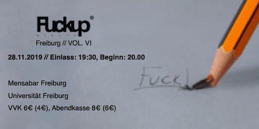 FuckUp Nights Freiburg Vol. VI