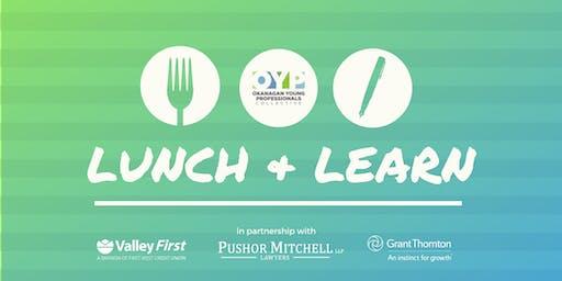 OYP Lunch + Learn: Fall Series
