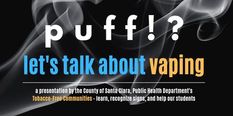 PUFF!? Let's talk about Vaping - an information night for families. tickets