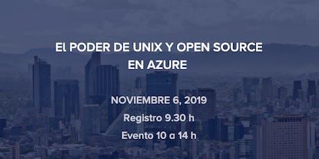El PODER DE UNIX Y OPEN SOURCE EN AZURE entradas