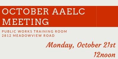 AAELC General Membership Meeting - October 21, 2019