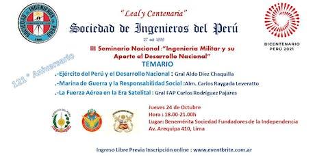 III Seminario Nacional de Ingeniería Militar entradas