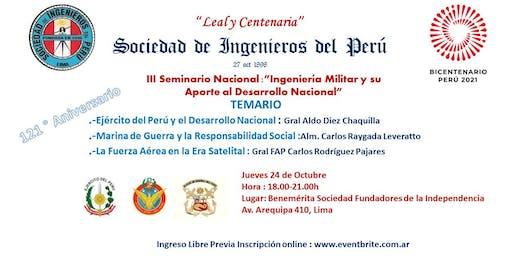 III Seminario Nacional de Ingeniería Militar