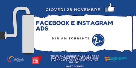Corso Pratico di Facebook e Instagram Ads (2 ed)  tickets
