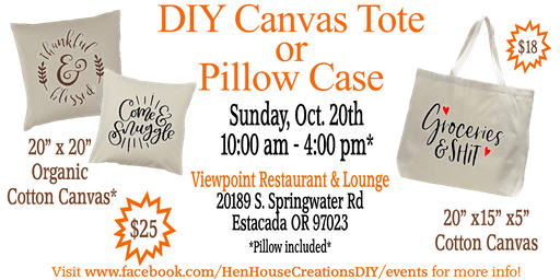 DIY Grocery Tote or Pillow Case