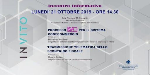 Evento informativo Processo ISA sistema Confcommercio e Scontrino fiscale