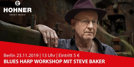 Berlin | Steve Baker Blues Harp Workshop Tickets