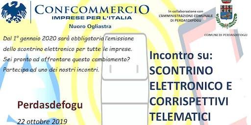 PERDASDEFOGU SEMINARIO SU SCONTRINI ELETTRONICI E CORRISPETTIVI TELEMATICI