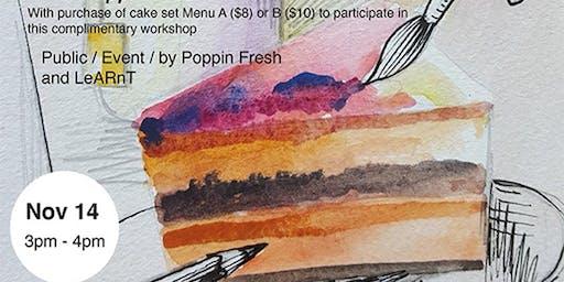 Cafe Sketching @ POPPIN' FRESH