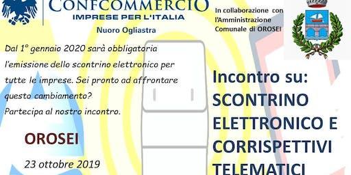 OROSEI SEMINARIO SU SCONTRINI ELETTRONICI E CORRISPETTIVI TELEMATICI