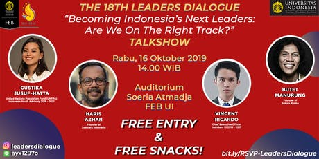 18th Leaders Dialogue tickets