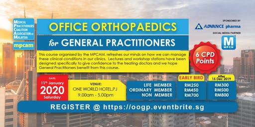 [THIS IS NOT A FREE EVENT] OFFICE ORTHOPAEDICS for GENERAL PRACTITIONERS