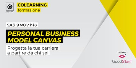 Personal business model canvas biglietti