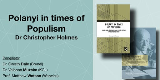 Double book launch: Polanyi in times of Populism. Dr Christopher Holmes