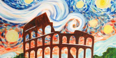 Paint Starry Night Over Rome + Prosecco!
