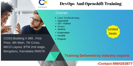 DevOps Tools and OpenShift training in Bangalore tickets