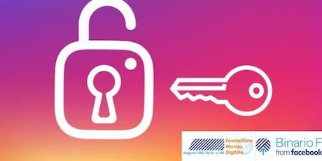 Facebook e Instagram in sicurezza biglietti