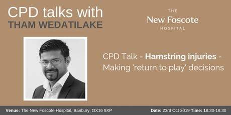 CPD Talk - Hamstring injuries - Making 'return to play' decisions tickets