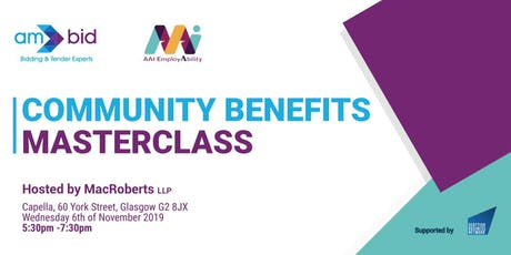 Community Benefits Masterclass with AM Bid & Adopt an Intern tickets