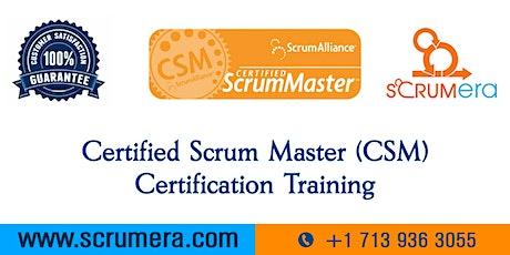 Scrum Master Certification | CSM Training | CSM Certification Workshop | Certified Scrum Master (CSM) Training in Cary, NC | ScrumERA tickets