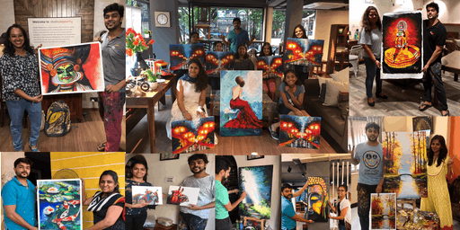 Personalized Acrylic & Knife Painting Workshop - Hyderabad