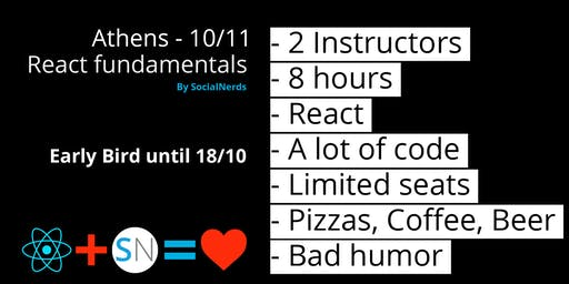 React fundamentals - SocialNerds