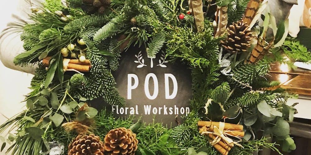 Christmas Door.Christmas Door Wreath Workshop