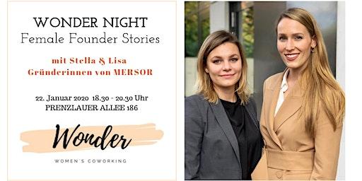 WONDER NIGHT - Female Founder Stories