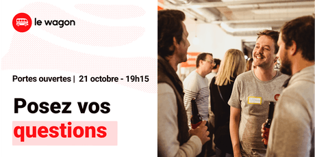 Session d'information le Wagon Bordeaux le 21 octobre - Apprendre à coder billets
