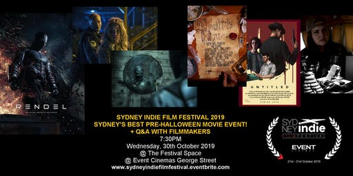 Sydney Indie Film Festival 2019 – Pre-Halloween Movie Event!