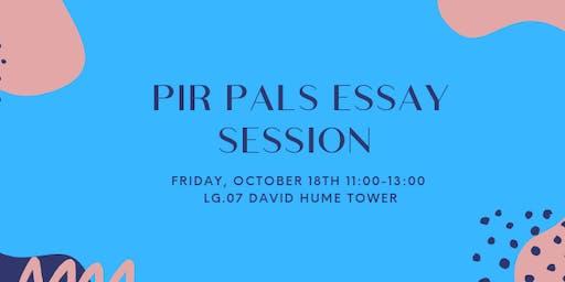 PIR PALs Essay Session #2