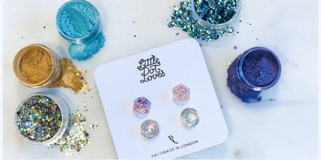 Make Resin Earring Studs with Little Dot Loves tickets