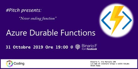 #Pitch Durable functions biglietti